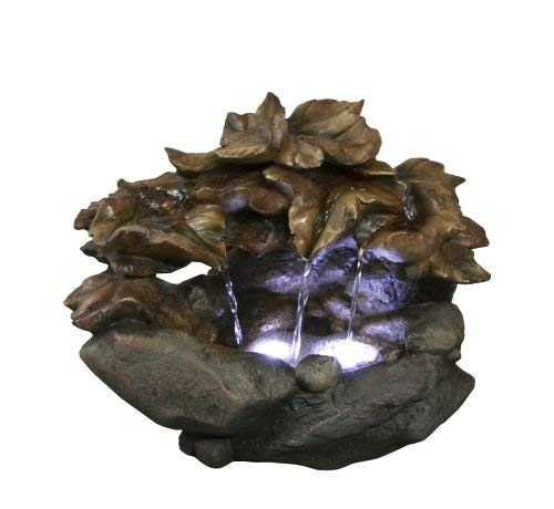 10'' Cascading Leaf Table Top Fountain