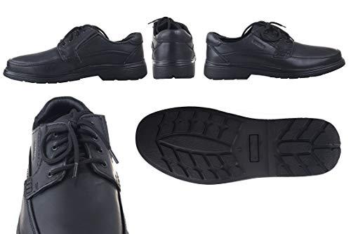 Casual Scarpe Eleganti Calzature Da Uomo Zerimar Indossare Pelle Nero In q7YR4wd