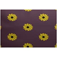 E by design RFN346PU11-23 Sunflower Frenzy Flower Print Rug, 2 x 3, Purple