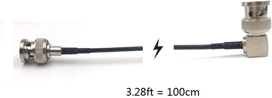 Straight to Right Angle, 50cm=1.64ft MCCAMSTORE 3G 75Ohm HD SDI Cable Male HD SDI Extension Cable for BMCC BMPC Hyperdeck Cameras Video Cable