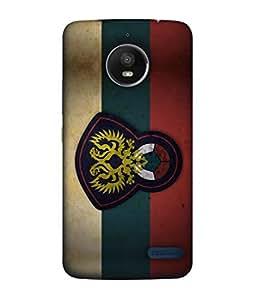 ColorKing Football Russia 14 Multicolor shell case cover for Motorola Moto E4