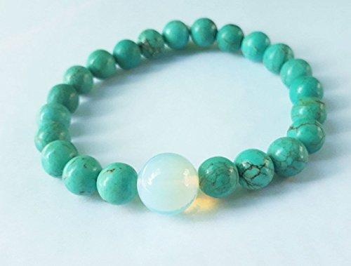 Turquoise bracelets,opal bracelets,stone bracelets,blue bracelets,men bracelets,women bracelets,beaded bracelets,fashion bracelets