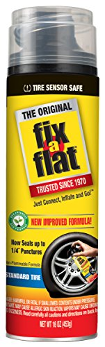 Fix-A-Flat S60420 Tire Inflator with Eco-Friendly Formula, (16 oz) (Best Place To Fix A Flat Tire)