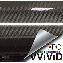 VVIVID® Epoxy High Gloss Black Carbon fiber Vinyl Automotive Car Wrap Film DIY Interior (1ft x 5ft)
