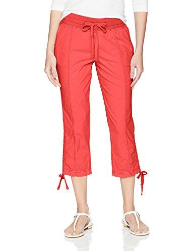 Jag Jeans Women's Kensie Crop, Parrot Tulip, 14 (Double Parrot Tulip)