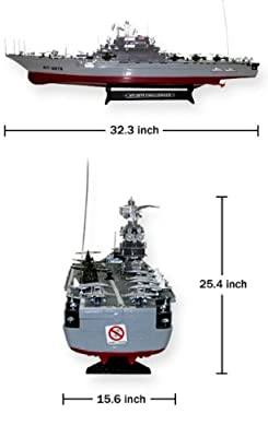 "Azimporter 30"" Ht-2878 Dual Propeller Military Battle Aircraft Carrier Warship Challenger Cruiser Boat Toy"