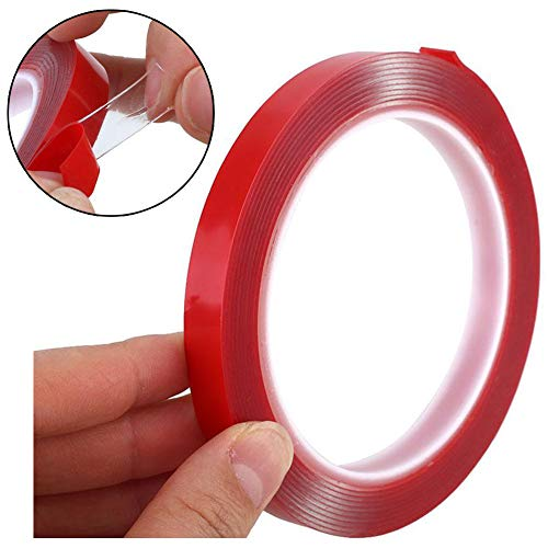 - Clear Mounting Tape - Acrylic Adhesive Double Sided Adhesive Foam Tape 10m X 10mm Weatherproof Heavy Duty Glue, Heat Resistant Perfect for LED Light Strip Channel,Auto,Household,and More