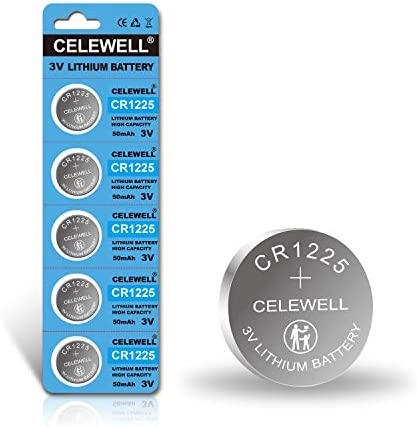"【5-Year Warranty】 CELEWELL 5-Pack CR1225 3V Lithium Battery for Thermometer Watch CR 1225""LO Means Low TEMPERAUTRE, NOT Low Power"