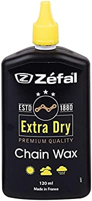 Zefal Unisex's Extra Dry Chain Wax, Black, 1
