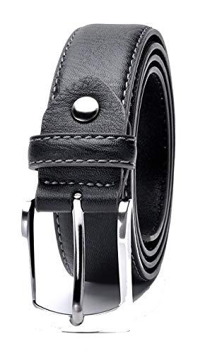 Fashion Brand Man Belt Split Leather Belt Italian Design Casual Men'S Leather Belts,Black,130Cm 44To47 Inch