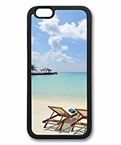 iCustomonline Ocean Heaven Custom Soft Back TPU Black Case for iPhone 6 (4.7inch)