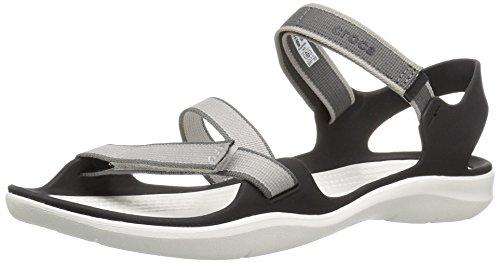 Crocs Women's Swiftwater Webbing W Sport Sandal Pearl White