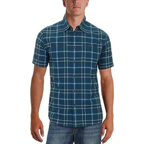 Quiksilver Mens Granview Button Up Short-Sleeve Shirt X-Large Major (Quiksilver Slim T-shirt)