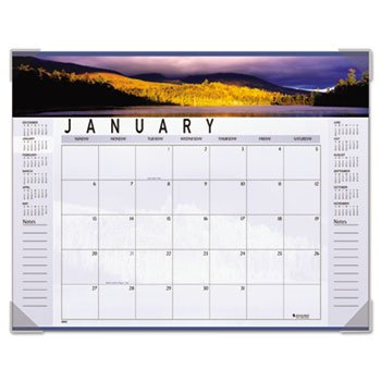 (AT-A-GLANCE 2014 Panoramic Landscape Monthly Desk Pad Calendar, Recycled, 22