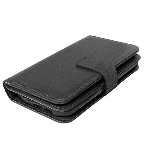 UBMSA-Neue Luxus-Leder-Mappen-Schlag-Standplatz-Fall-Abdeckung Taschen and Schalen f¨¹r LG G2 [Eingebaute 9 Kreditkarten Slots]