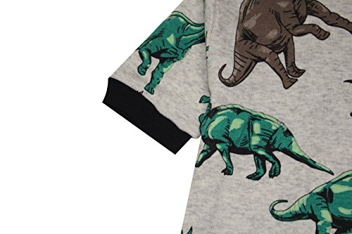 Boys Dinosaurs Pajamas Summer Children Cartoon Clothes Kids 2 Pieces Short Set Size 5 Years by CoralBee (Image #5)