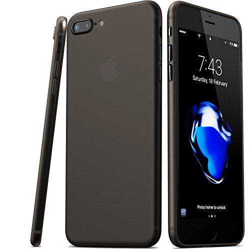 TOZO for iPhone 7 Plus Case iPhone 8 Plus Case, PP Ultra Thin [0.35mm] World's Thinest Protect Hard Case [ Semi-transparent ] Lightweight 5.5 inch. [Matte Mocha black]