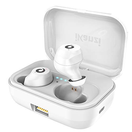 Wireless Earbuds, IPX7 Waterproof Auto Pairing Bluetooth Earbuds True Wireless Headphones Bluetooth Headset with Charging Case