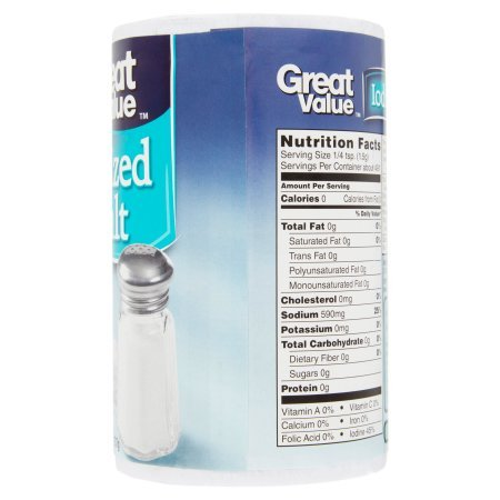 Great Value Iodized Salt, 26 oz (pack of 5) by Great Value (Image #3)
