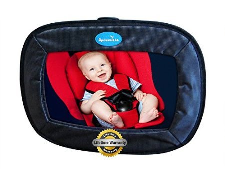 The Best Baby Car Mirror, This Rear Facing Mirror Works In Most Cars with No Headrest Required- The Largest Rear View Back Seat Mirror In Its Class *Comes With An Unlimited Lifetime Warranty*