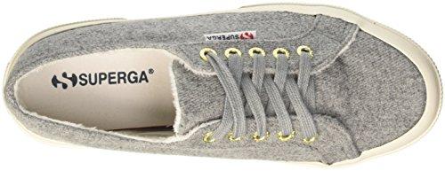 Superga 2750-Woolmelangeu, Sandalias con Plataforma Unisex Adulto Grigio (Grey Dk)