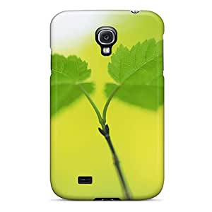 Tpu Shockproof/dirt-proof Fresh Green Theme Cover Case For Galaxy(s4)