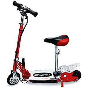 Maxtra E120 177lbs Max Weight Capacity Electric Scooter Motorized Bike Rechargeable Battery Red