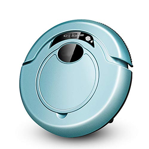 (WISEERP Robot Vacuum Cleaner, Wet and Dry, Powerful Suction, Tangle-Free, Slim Design, Low Noise Design Design, Good for Hard Floor and Low Pile Carpet,Blue)
