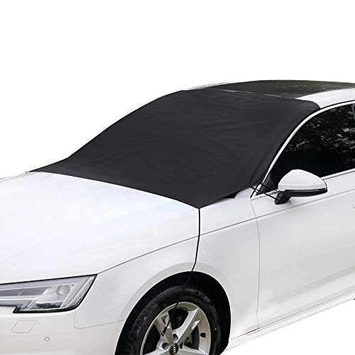 Ubabe Windshield Cover,Car Snow Cover Windshield Ice Cover Snow Ice Frost Auto Cover Fit for Cars Trucks Vans and SUVs