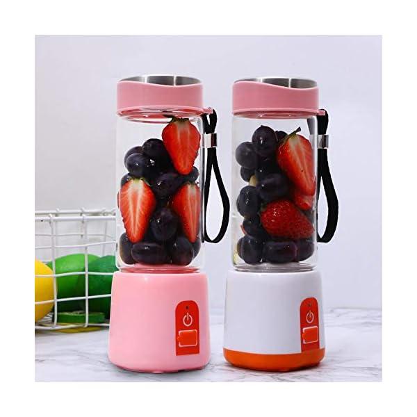 Frullatore elettrico portatile Frullatore USB Mini miscelatori di frutta Spremiagrumi Estrattori di frutta Frullato… 3 spesavip