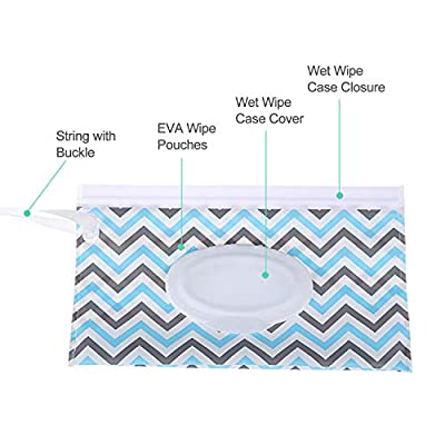 Reusable Wet Wipe Pouch Dispenser for Baby or Personal Wipes, Eco Friendly Wipe Pouches, Great for Travel (2 pack)