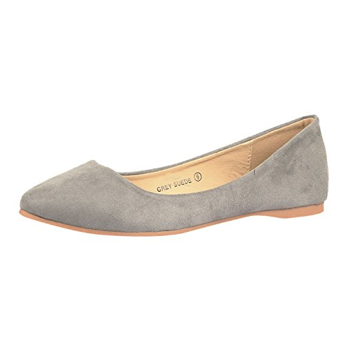 Bella+Marie+BellaMarie+Angie-28+Women%27s+Classic+Pointy+Toe+Ballet+Flat+Shoes+%287.5+B%28M%29+US%2C+Grey%29