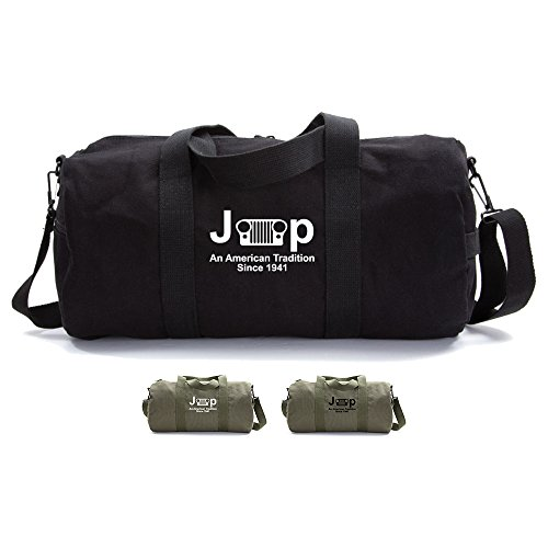 An American Tradition Since 1941 Army Jeep Heavyweight Canvas Duffel Bag