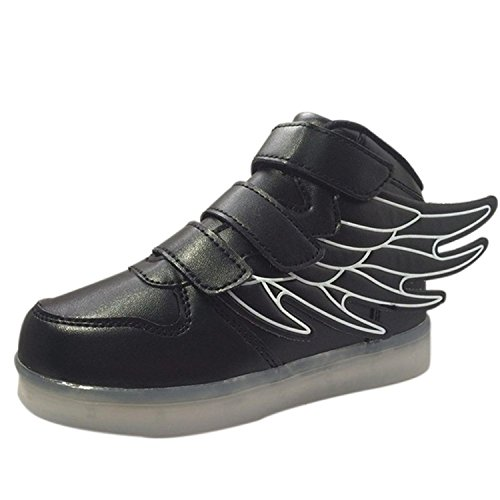 Also-Easy-Stylish-USB-Charger-7-Colors-LED-Lights-Luminous-Sports-Shoes-Sneaker-Athletic-Wings-Trainers-High-top-Shoes-Style
