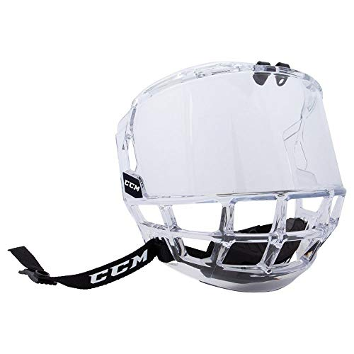 MonkeyJack CE Certificated Anti-fog Anti-impact Ice Hockey Visor Shield with Mounting Accessories Helmet Visor Equipment Bag Set