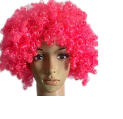 [Bliss Pro's Pink Children's Afro Wig Halloween Costume Party Wig 70's 80's Retro] (70s And 80s Party Costumes)