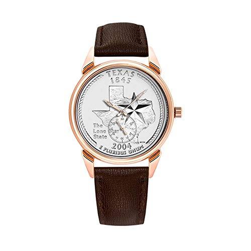 (Fashion Waterproof Watch Minimalist Personality Pattern Watch - 411.Texas State Quarter)