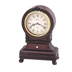 Bulova B1984 Knollwood Clock, Antique Mahogany Finish