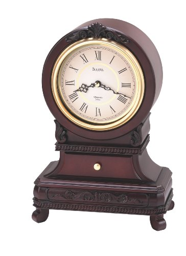Knollwood Clock, Antique Mahogany Finish - Bulova B1984