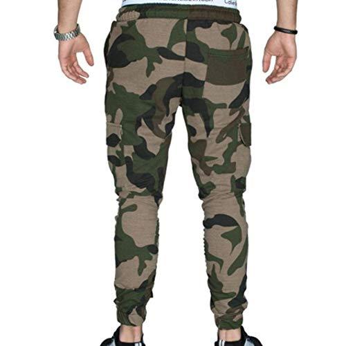 Sarouel Été Armeegrün Chinois Pantalon Décontracté Vintage Hommes Pour Battercake Bloomers Style Poche Mode Confortable Femme De Lâche qAEEH