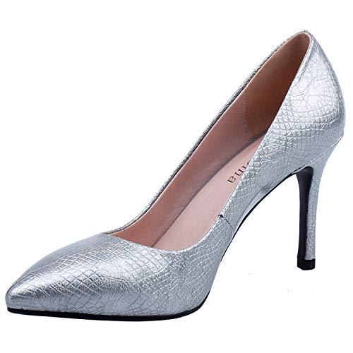 Silver 037 pour Argenté 5 ZAPROMA SA Femme Escarpins 36 Ttwq5YxZ