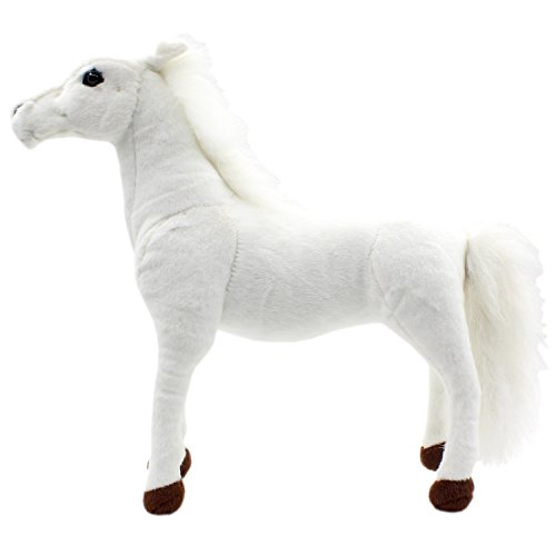 TAGLN Stuffed Animals Standing Horse Toys Plush 18 Inch (White)]()