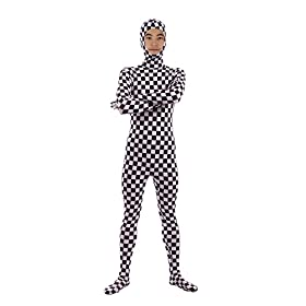 Sheface Kids Spandex Mosaic Face Out Zentai Bodysuit Costumes Kids Small P15