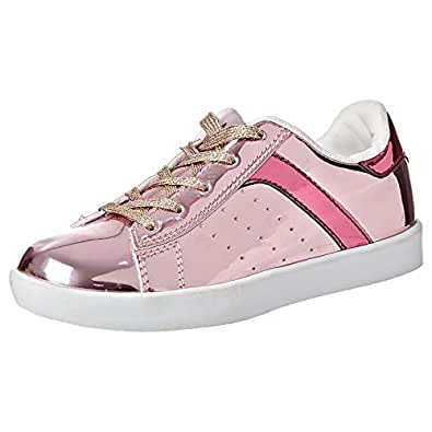 Iconic Fashion Sneakers Casual Shoe for Girl, Pink