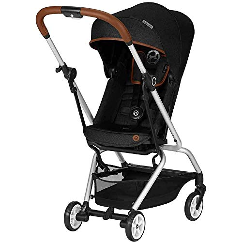 (Cybex Eezy S Twist Denim Stroller in Lavastone Black)