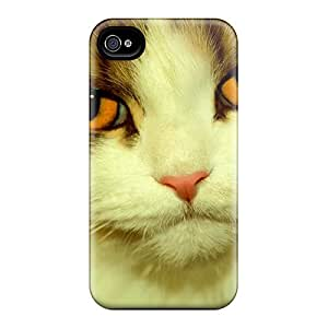 Fashion Tpu Case For Iphone 4/4s- Lovely Cat Defender Case Cover