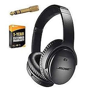 Bose QuietComfort 35 (Series II) Wireless Headphones, Noise Cancelling, Alexa voice control – Black I Worldwide Version