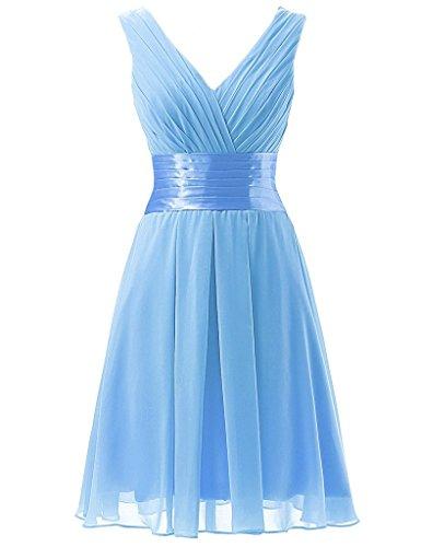 Jugendweihe Kleider Brau La Kurz Partykleider mia Damen Fromalkleider Abendkleider Elegant Mini Brautjungfernkleider Blau Promkleider zzxvrRAnw