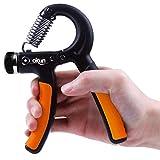 okun Strength Training Physio Exercises Hand Grip 10-40Kg Forearm Adjustable Heavy (Orange & Black)