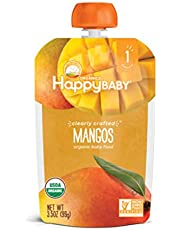 Happy Baby Clearly Crafted Stage 1 Mangos, 3.5 oz package (Pack of 8), Mangos, 8 count